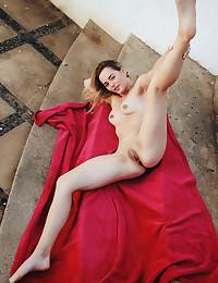 Jillean bare in glamour RED LOVE gallery - MetArt.com
