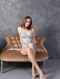 Gracie nude in glamour SMOOTH LEATHER gallery - MetArt.com