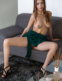 Mila Azul nude in erotic GREEN DRESS gallery - MetArt.com