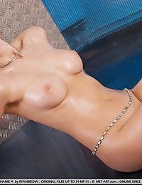 Big-chested honey with bootylicious physique enhanced by in all round, ample breasts.