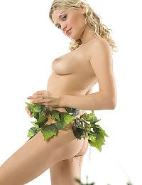 Blond with plants